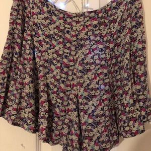 Free people floral flower shorts size 2